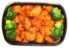 Общий цыпленок и Brocolli TSO, который нужно пойти Стоковая Фотография