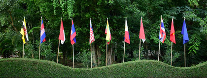 Община АСЕАН, флаг Стоковое Изображение