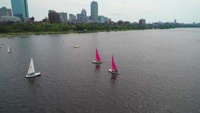Община Бостона плавая видео антенны трутня режима фары 4k 60p активное отслеживая видеоматериал