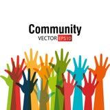 Община и social Стоковая Фотография