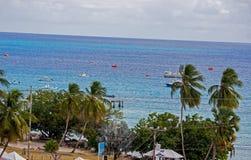 Община рыбной ловли на пляже Oistins, Барбадос Стоковые Фотографии RF