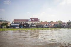 Община Chao Река Phraya берега реки в Бангкоке Стоковое Изображение RF