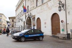 Общинный квадрат в Assisi, Италии стоковые фотографии rf