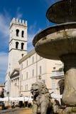Общинный квадрат, Assisi Стоковая Фотография RF