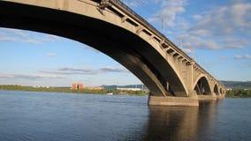 Общинный мост в Krasnoyarsk Стоковая Фотография RF
