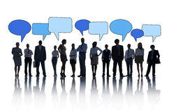 Общины речи бизнесмены концепции пузырей Стоковые Фотографии RF