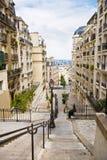 общяя французская улица Стоковое Изображение