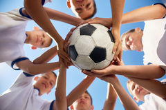 Объединенная футбольная команда Стоковые Фото
