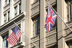 объединенные флаги Стоковые Изображения RF