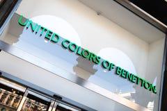 Объединенные цвета экстерьера магазина Benetton Стоковое Фото