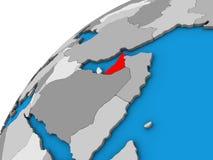 Объединенные эмираты на глобусе 3D бесплатная иллюстрация
