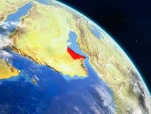 Объединенные эмираты от космоса иллюстрация штока