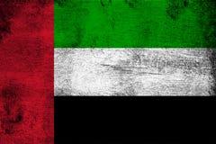 Объединенные эмираты ржавые и иллюстрация флага grunge иллюстрация вектора