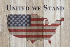 Объединенный мы стоим сообщение Стоковое Изображение