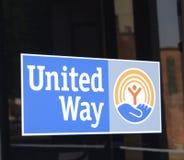 Объединенный путь логотипа Америки Стоковые Изображения RF