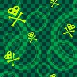 объезжает картину emo зеленую безшовную Стоковые Фото