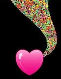 объезжает цветастые сердца Стоковая Фотография RF
