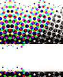 объезжает цветастый halftone Стоковое фото RF