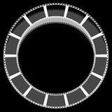 Объезжайте изолированное filmstrip с тенью для фотографии, multimedi Стоковые Фото
