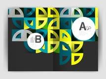 Объезжайте предпосылки вектора абстрактные, шаблоны дела годового отчета иллюстрация вектора
