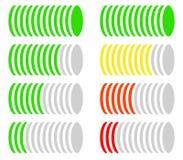 Объезжайте ровный метр, датчик, диаграмму сравнения Версия закодированная цветом бесплатная иллюстрация