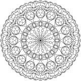 Объезжайте страницу расцветки мандалы взрослую, с мотивами тюльпанов стоковая фотография