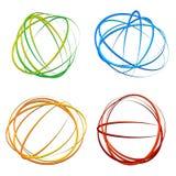 Объезжайте элемент дизайна с случайным овалом, формами эллипсиса бесплатная иллюстрация