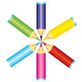 объезжайте crayons Стоковые Фотографии RF