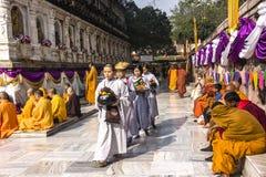 Объезжая висок mahabodhi, Индия Стоковые Изображения RF