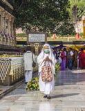 Объезжая висок mahabodhi, Индия Стоковые Изображения
