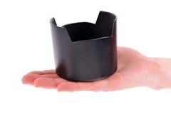объектив клобука удерживания руки Стоковое Изображение RF