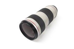 объектив над белизной telephoto стоковые фото