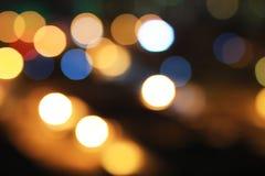 Объектив ночи красивый рассеивает сцена для того чтобы запачкать влияние стоковое изображение rf