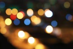 Объектив ночи красивый рассеивает сцена для того чтобы запачкать влияние стоковые фото