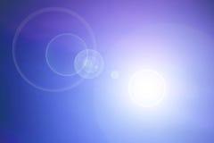 объектив пирофакела предпосылки голубой Стоковое фото RF