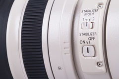Объектив с переменным фокусным расстоянием канона 100-400mm Tele Стоковые Изображения