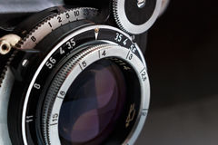 объектив фотоаппарата ретро Стоковая Фотография