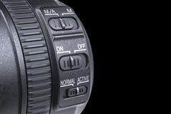 Объектив фотоаппарата с отражениями объектива Объектив для зеркальной камеры одиночной линзы SLR slr камеры цифровое самомоднейше Стоковая Фотография