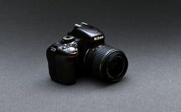 Объектив Nikkor 18-55 Nikon D5100 Стоковое Изображение