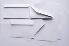Объекты белой бумаги стоковое изображение
