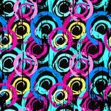Объекты граффити абстрактные геометрические на черной предпосылке Стоковая Фотография