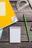 Объекты для образования, школьные принадлежности, офис Стоковое фото RF