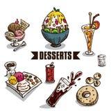 Объекты десертов фаст-фуда Стоковое Изображение