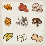 Объекты еды свежие Стоковые Изображения RF