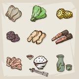 Объекты еды свежие Стоковое Изображение