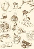 Объекты еды Стоковая Фотография RF