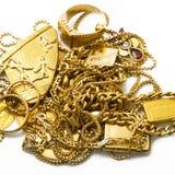 Объекты золота на белой предпосылке Стоковые Изображения