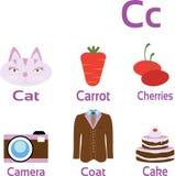 Объекты и вещи начиная с письмом c бесплатная иллюстрация