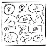 Объекты и пузыри мысли бесплатная иллюстрация
