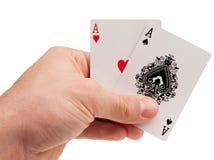 Объекты покера - обломоки и кнопка торговца стоковые фотографии rf